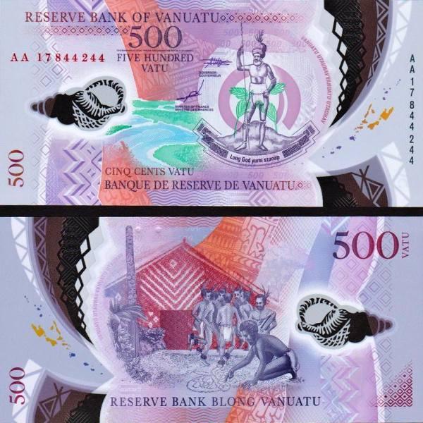 500 Vatu Vanuatu 2017, polymer P17