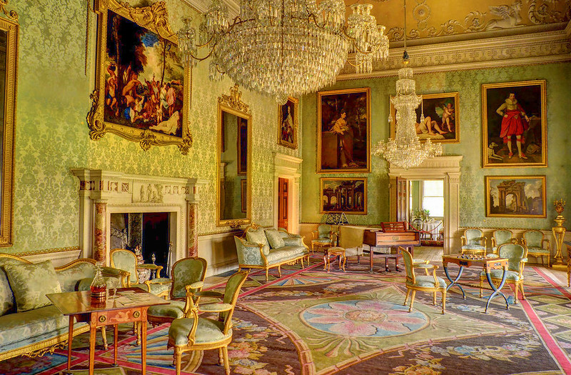 Drawing Room at Saltram House, Plympton, Devon. Credit Baz Richardson, flickr