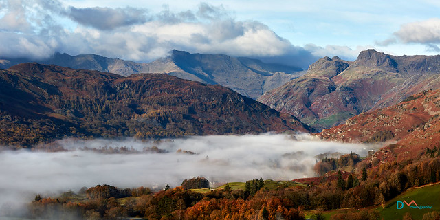 Great Langdale Mountains and Mist