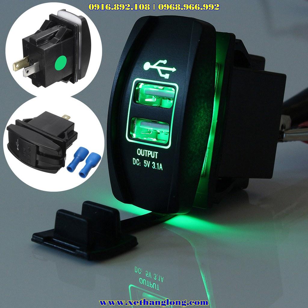 Hình ảnh tổng hợp về cục sạc USB lắp xe máy