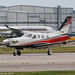 HB-KRJ - 2016 build Socata TBM930, lining up for departure on Runway 23L at Manchester