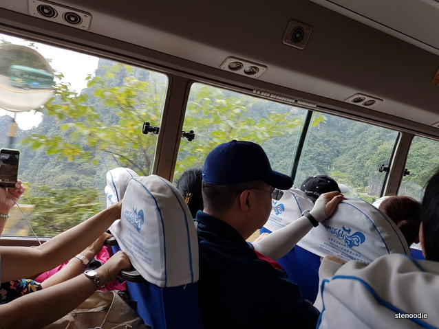Tianmen Mountain bus view