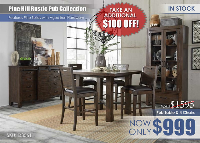 Pine Hill Pub Dining Set D3561_BFStamped