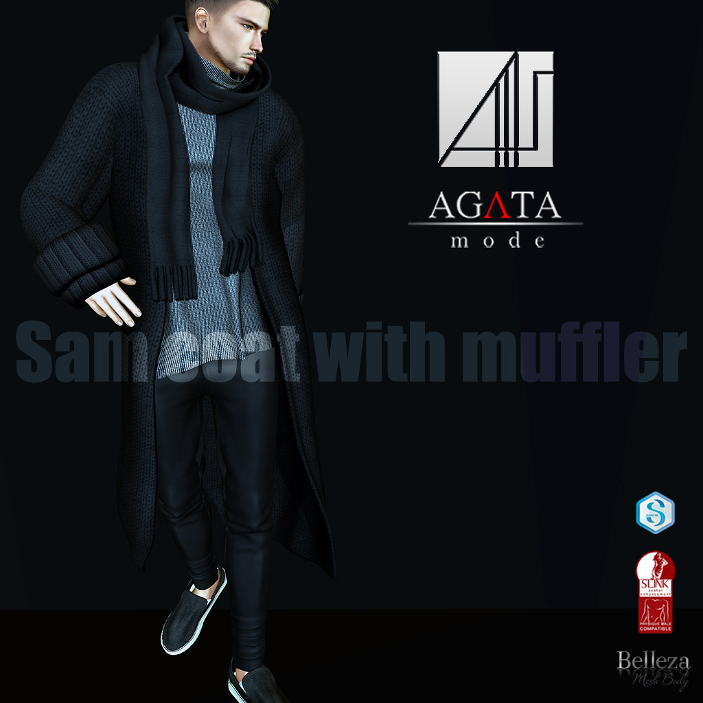 Sam coat and muffler @ HME