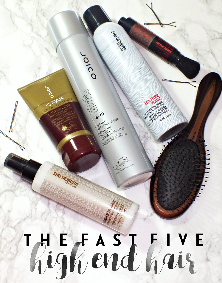the fast five high end hair shu uemura joico