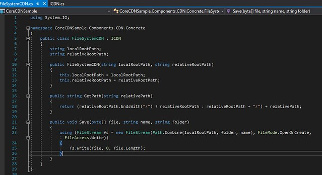 2017-11-12 16_02_39-CoreCDNSample - Microsoft Visual Studio