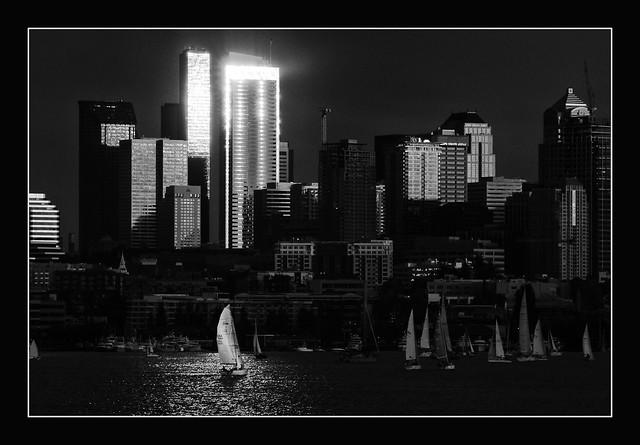 Seattle in monochrome