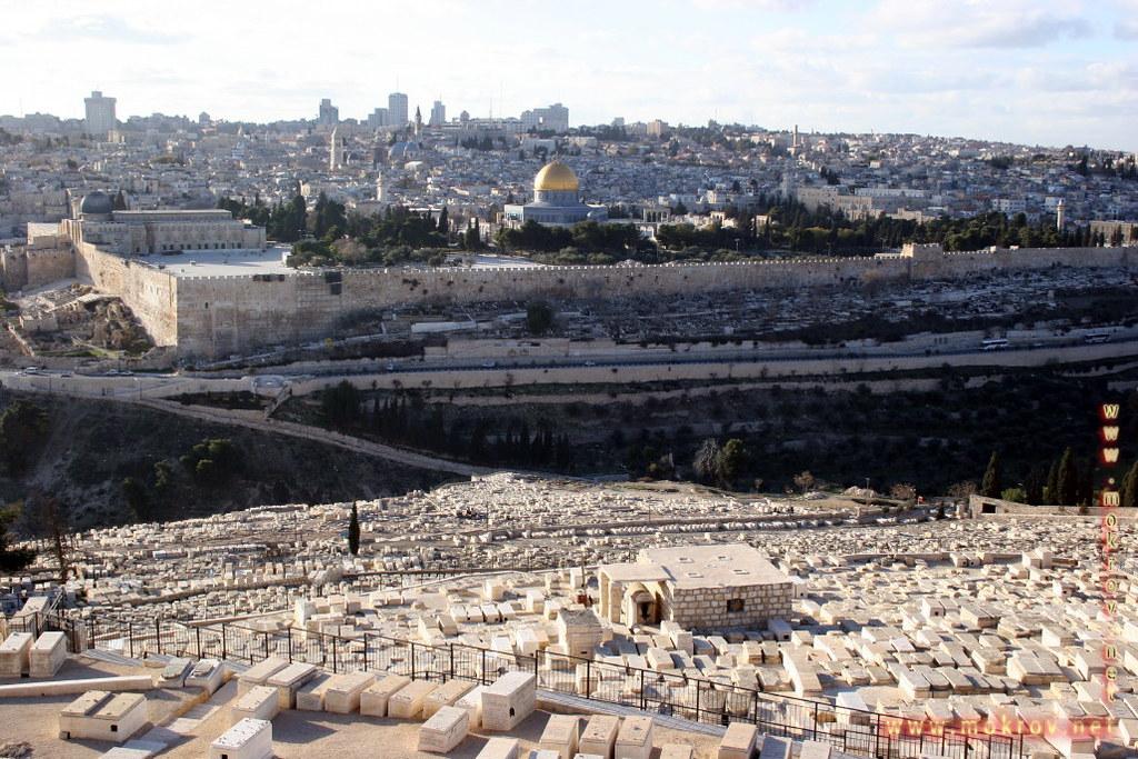 Город Иерусалим фотографии сделанные днем и вечером