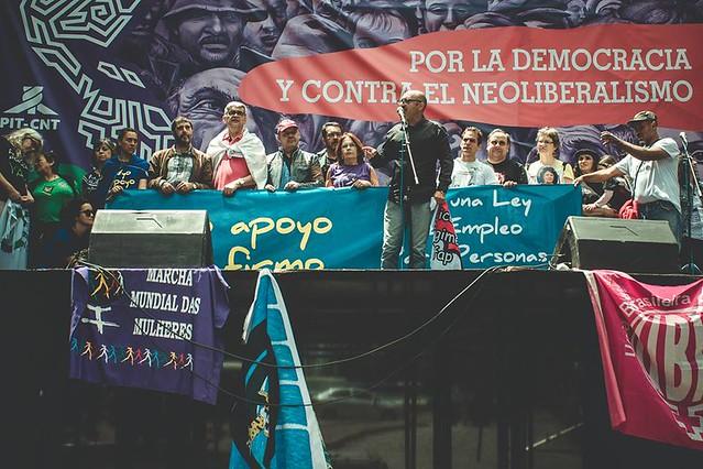 No primeiro dia da Jornada, movimentos denunciaram o retrocesso dos direitos trabalhistas no Brasil e na Argentina - Créditos: JornadaContinental