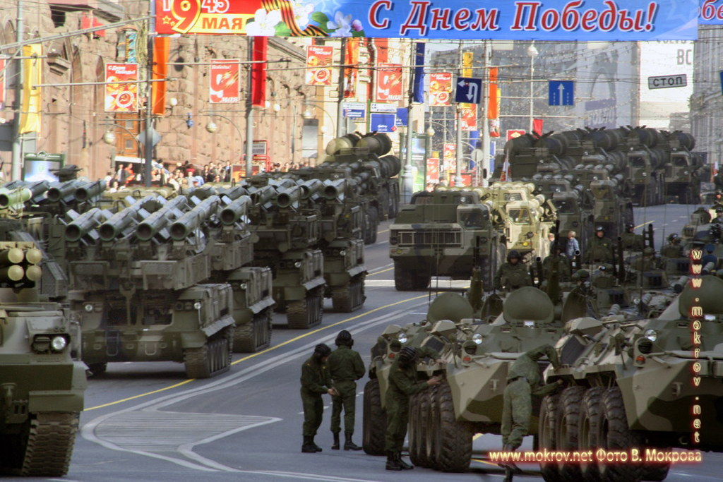Военный парад 9 мая 2008 г. в Москве фото сделанные как днем, так и вечером