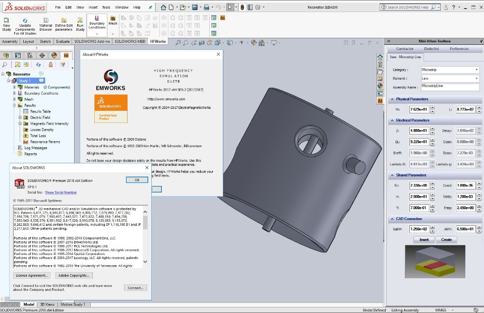 Working with EMWorks HFWorks 2017 SP0.2 for SolidWorks 2011-2018 Win64 full