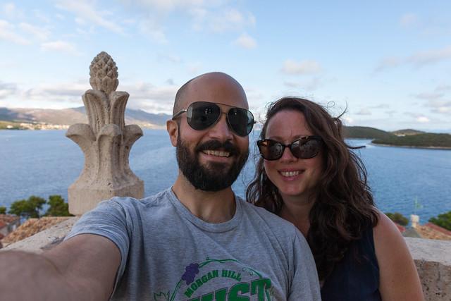 Selfie on top of Korcula
