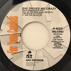 FINE YOUNG CANNIBALS:SHE DRIVES ME CRAZY(LABEL SIDE-A)
