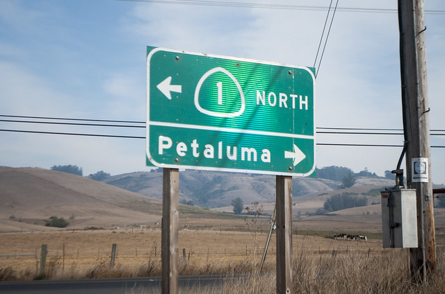 Highway 1 to Petaluma