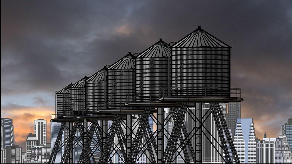 Industry City Gravity Tanks