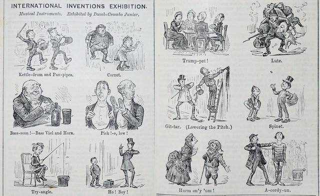 Inventions Exhibition, Musical Instruments - Punch 1885