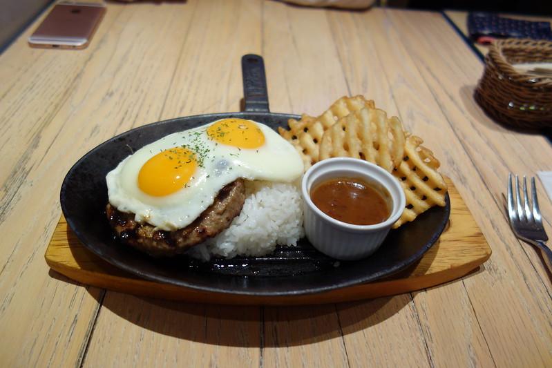 hamburger steak @ MOKUOLA Dexee Diner, Sasazuka , Tokyo