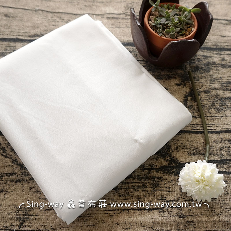 2C340332 白色素面  棉質原胚布 3尺7
