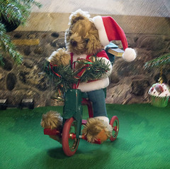 Christmas Teddy on Bike