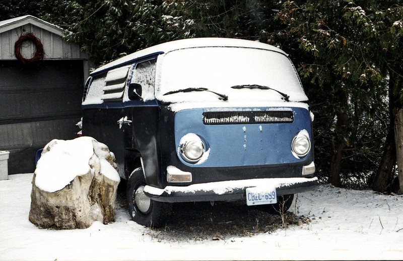 Snow Covered VW Bus