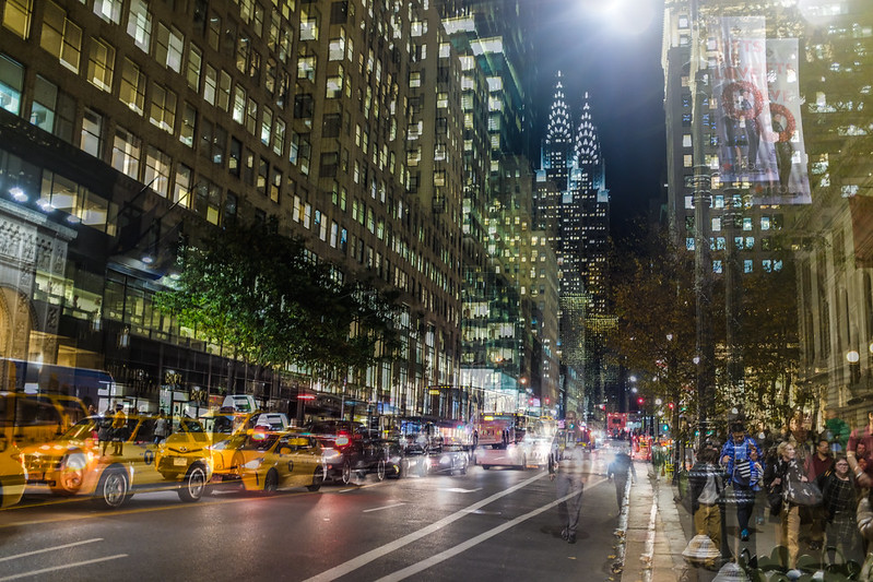 Walk In New York - NYC 2017 - Chrysler Building - Nuit - Double expositions