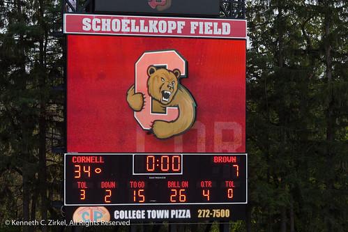 Schoelkopf Field scoreboard