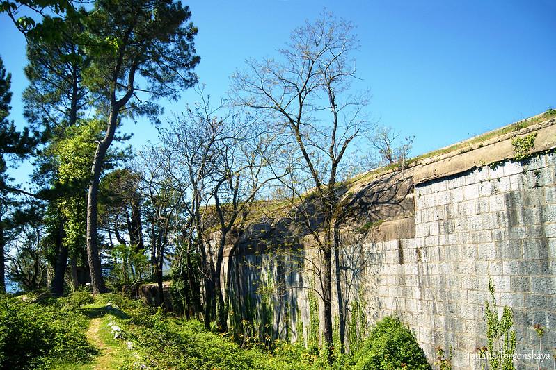Западная стена крепости
