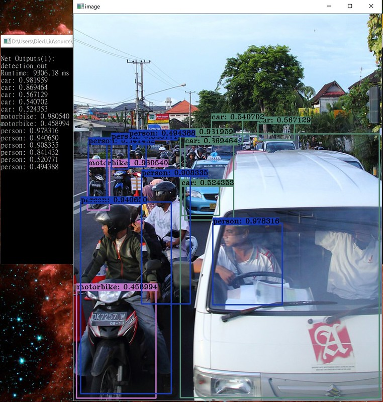 OpenCV DNN speed compare in Python, C#     - after dusk, before dawn