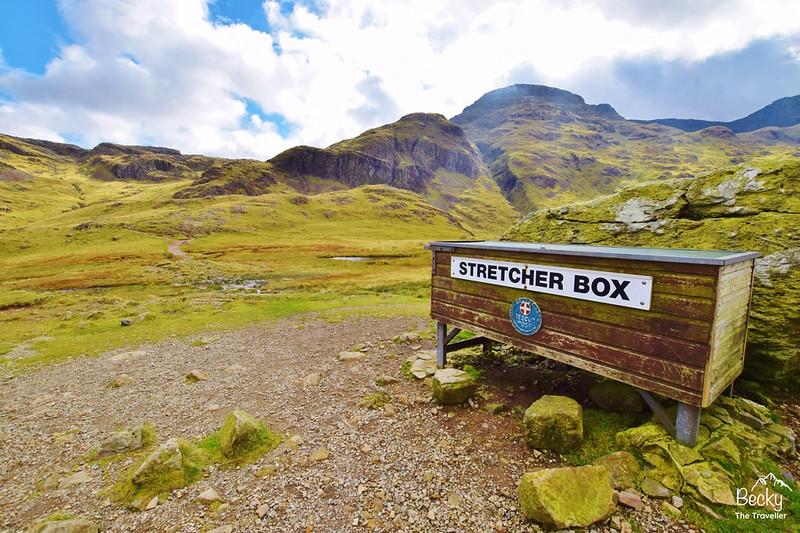 Scafell Pike walk via Corridor route, Lake District