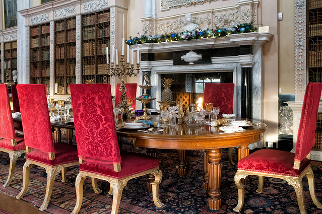 Dinner in the library - Blenheim Palace