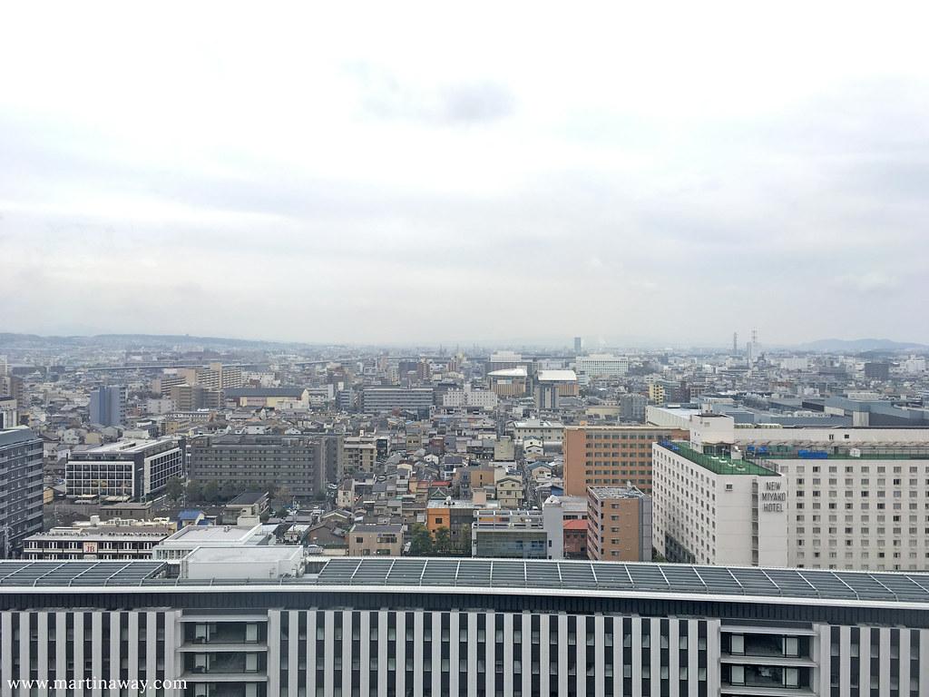 Kyoto dall'alto della stazione