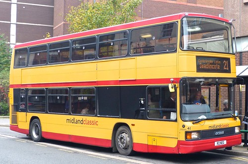 R2 NEG 'midland classic' No. 41. DAF DB250LF / Optare Spectra on Dennis Basford's railsroadsrunways.blogspot.co.uk