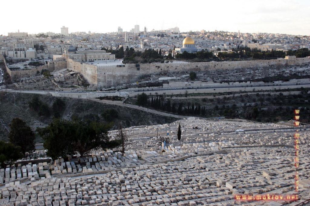 Исторический центр Иерусалима с фотокамерой прогулки туристов