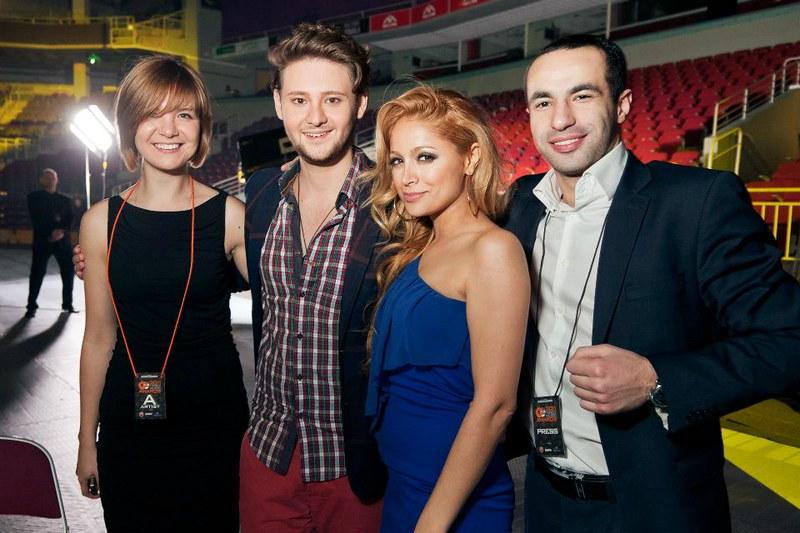 2011 год. С моими артистами, победители Евровивдения 2011г. Рига