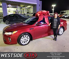 Congratulations Tamara on your #Kia #Optima from Jason Taylor at Westside Kia!