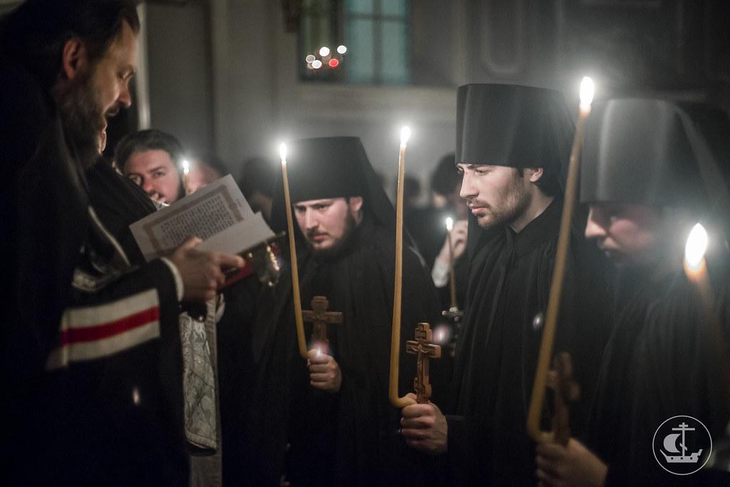 20 ноября 2017, Монашеский постриг. Монахи Иоанн, Феофан, Павел / 20 November 2017, Monastic vows. Monks John, Theophan, Paul