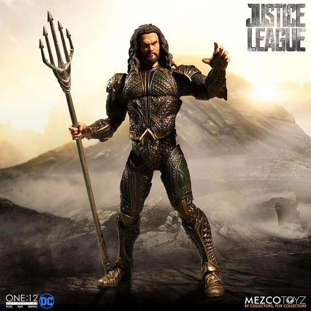 「能夠成為這個團隊的一份子,我真的很開心~」MEZCO ONE:12 COLLECTIVE 系列《正義聯盟》水行俠 Justice League Aquaman 1/12 比例人偶作品