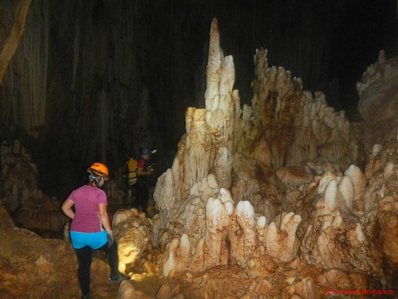 Crystal stalagmites