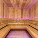 Custom sauna. Every piece of wood was custom milled by our skilled craftsmen