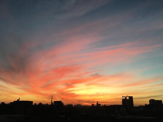 ルクソールの夕焼け