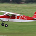 G-BPYJ - 1990 build Wittman W8 Tailwind, arriving on Runway 26L at Barton