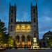 Basilique Notre-Dame de Montréal Québec Canada at Night