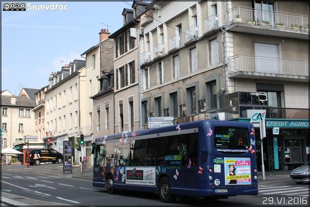 Heuliez Bus GX 127 L - SATAR (Société Anonyme des Transports Automobiles Ruthénois)(Ruban Bleu) / Agglobus n°163