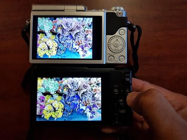 Panasonic GX 850 vs LX 10 screens