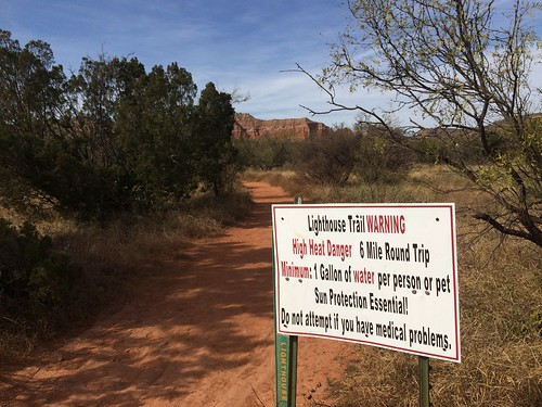 Palo Duro lighthouse trailhead