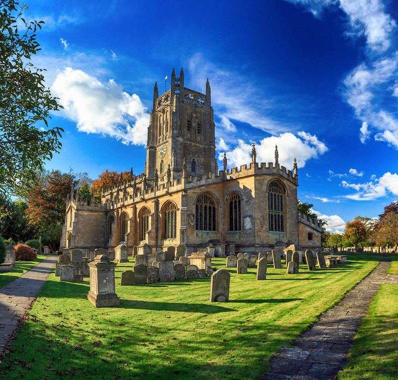 Parish Church of St. Mary, Fairford. Credit Mymuk