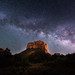 Milky Way over Courthouse Butte by Sandra Herber