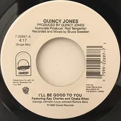QUINCY JONES:I'LL BE GOOD TO YOU(LABEL SIDE-A)