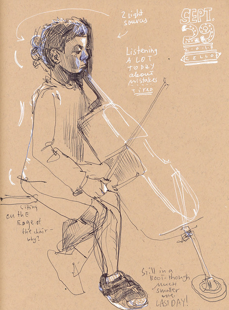 Sketchbook #109: Cello Practice