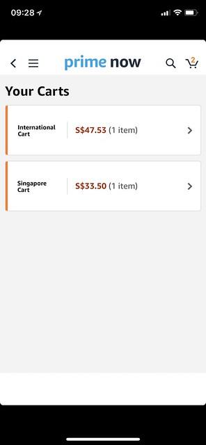 Amazon Prime Singapore - Carts